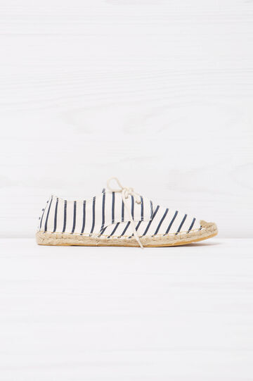 Shoes with striped pattern, Blue, hi-res