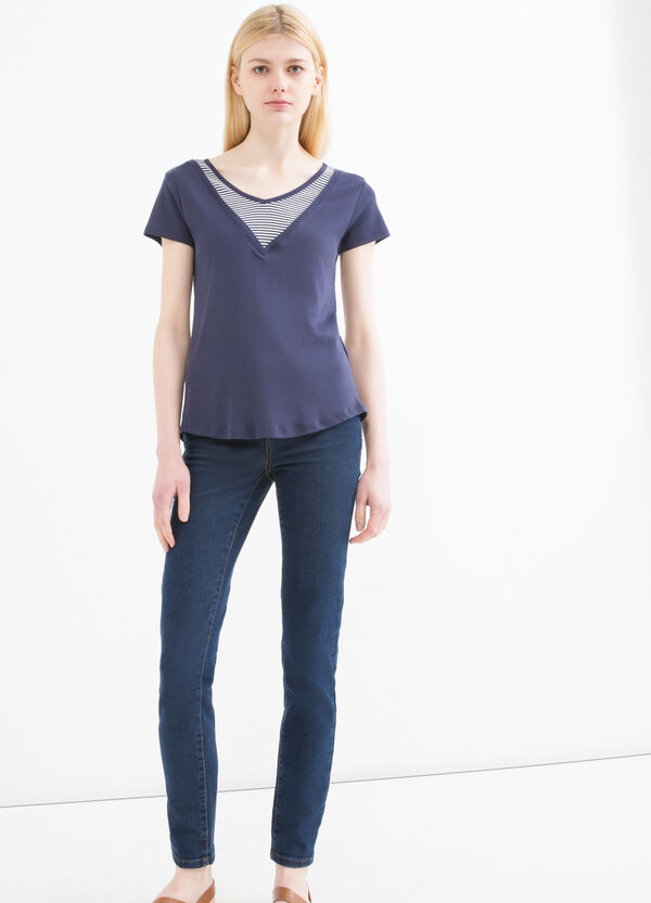 T-shirt puro cotone finto doppio | OVS