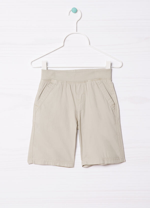 100% cotton shorts with elastic waist band | OVS
