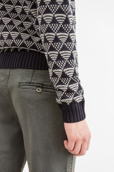 Premium slim-fit chino trousers, Dark Grey, hi-res