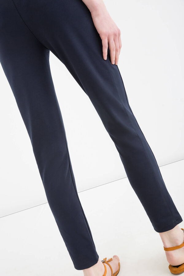Solid colour viscose blend leggings | OVS