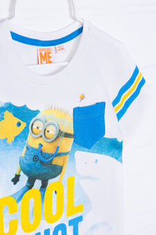 Minions printed T-shirt in 100% cotton, Cream, hi-res
