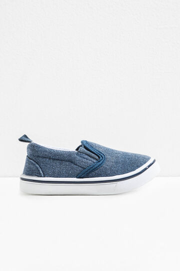 Slip-on with canvas upper, Blue, hi-res