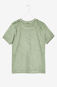 Mélange printed T-shirt, Light Green, hi-res
