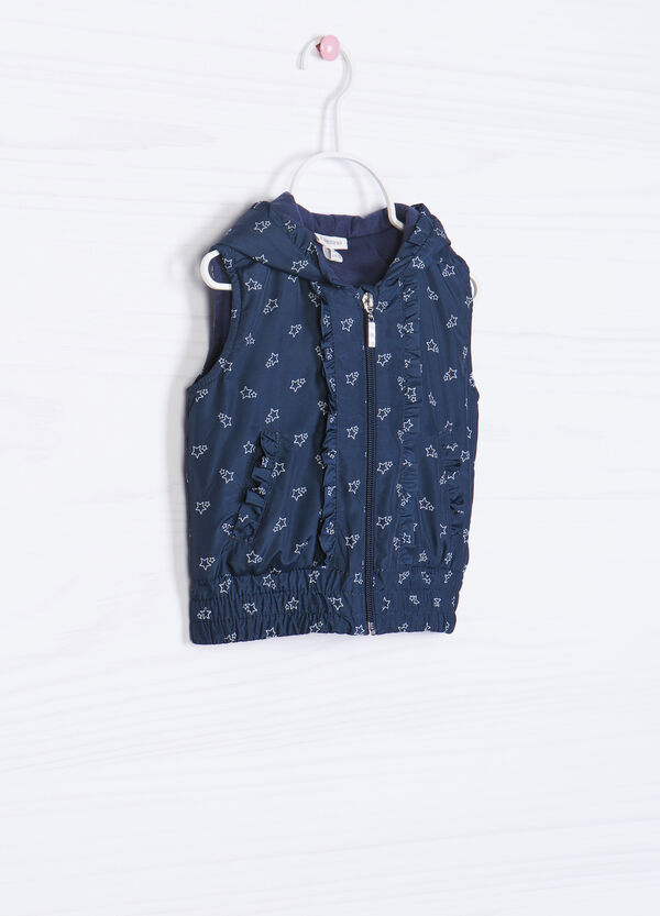 Patterned waistcoat with hood | OVS