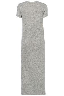 Smart Basic long dress in viscose blend, Grey, hi-res