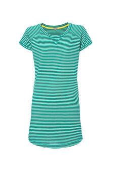 Smart Basic striped dress, White/Green, hi-res