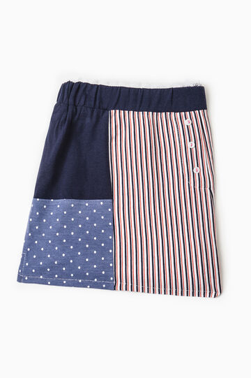 Shorts pigiama fantasia pois e righe, Blu navy, hi-res
