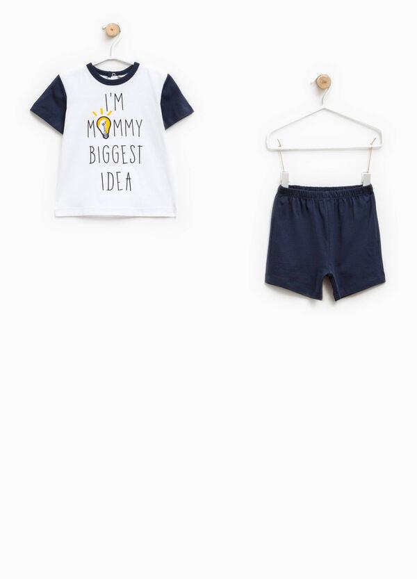 Printed pyjamas with round neck | OVS