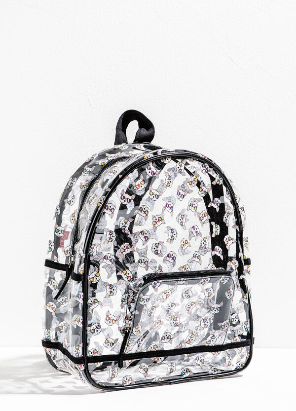 Transparent backpack with dog pattern | OVS