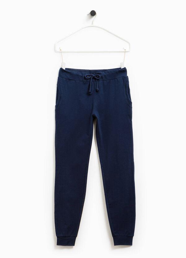 Pantalón de chándal en algodón elástico Smart Basic | OVS