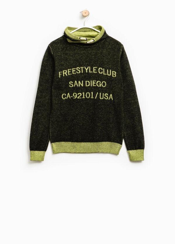 Jersey en punto tricot con motivos de texto | OVS