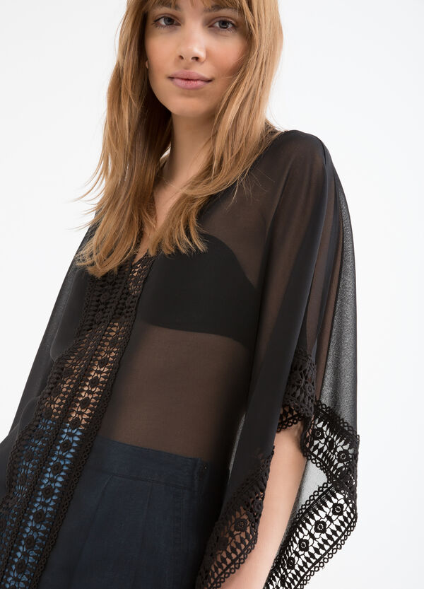 Semi-sheer openwork blouse | OVS