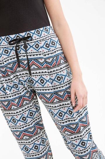 Pantaloni jacquard fantasia, Grigio melange, hi-res