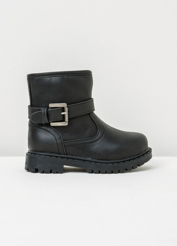Ankle boots with thick tread sole and buckle   OVS