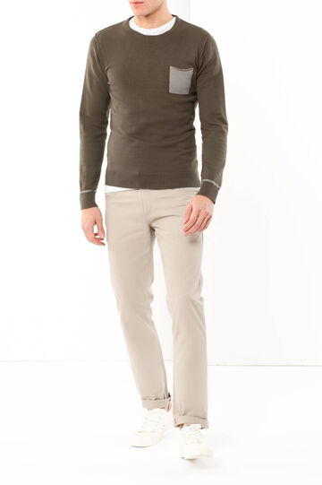Jumper with pocket, Army Green, hi-res