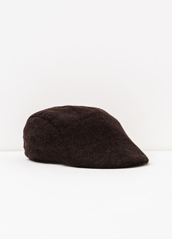 Patterned flat cap | OVS