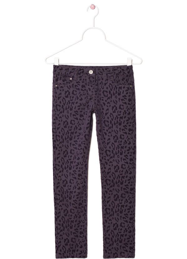 Twill trousers with animal print | OVS