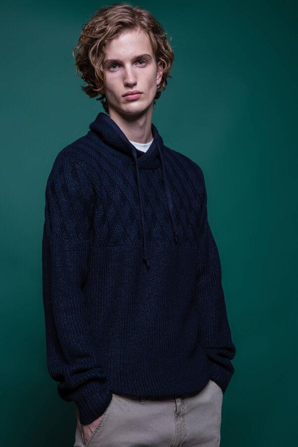 Jersey de algodón con cuello alto y cordón | OVS