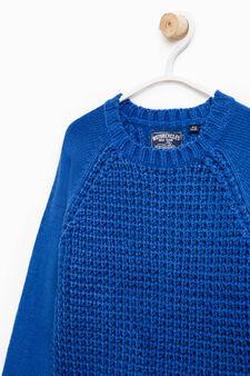 Pullover tricot maglia larga, Blu royal, hi-res