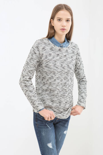 A-line patterned T-shirt