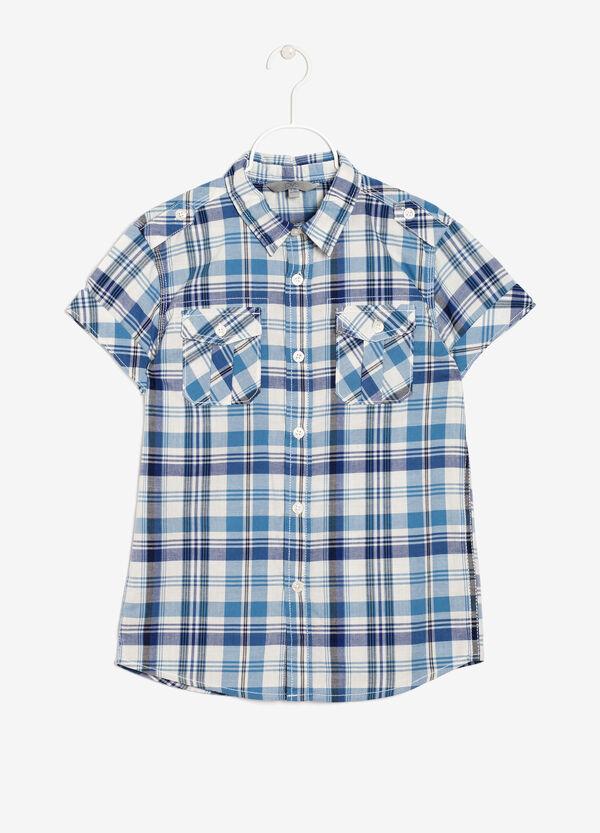 Camicia tartan con taschini   OVS