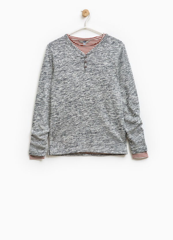 Completo pullover t-shirt a righe | OVS