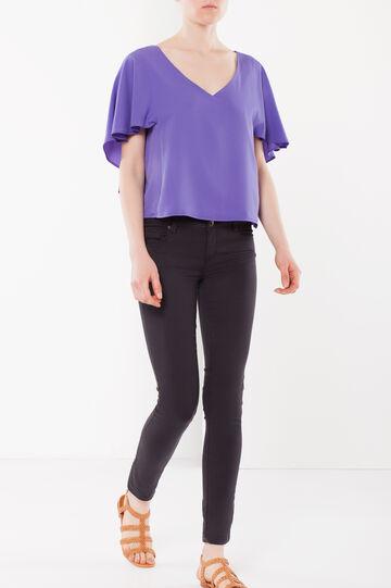 Draped sleeves blouse, Purple, hi-res