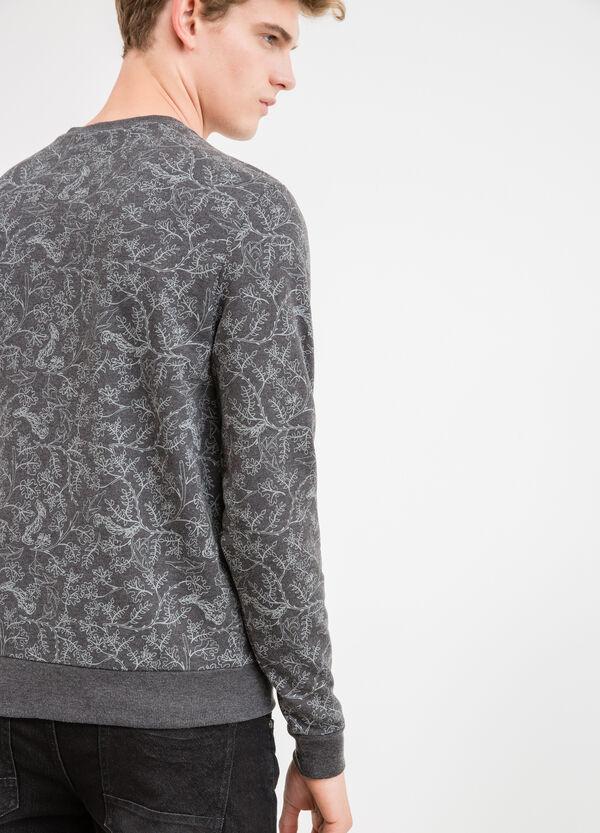 Floral crew-neck sweatshirt in cotton blend. | OVS