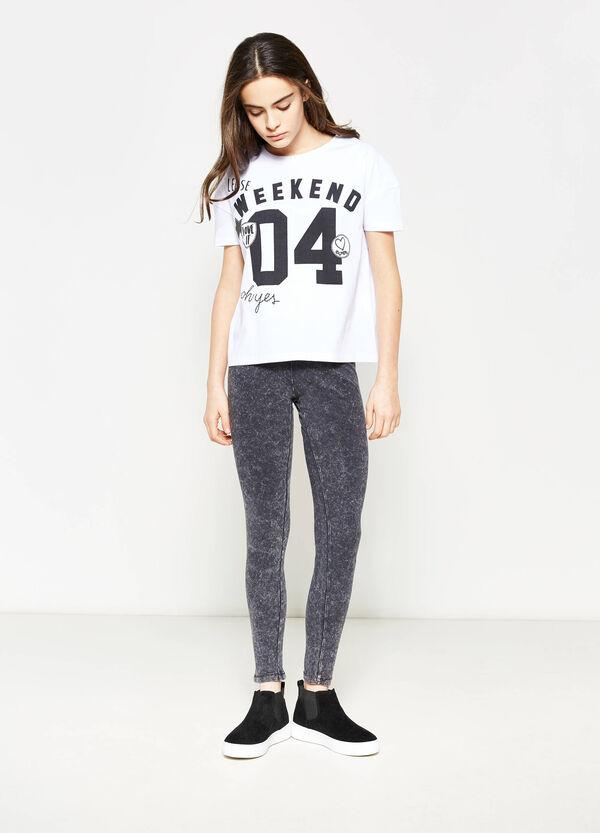 Leggings en algodón elástico Teen | OVS