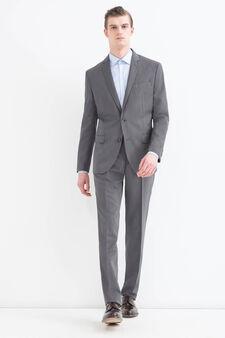 Elegant, regular-fit suit in viscose, Grey, hi-res