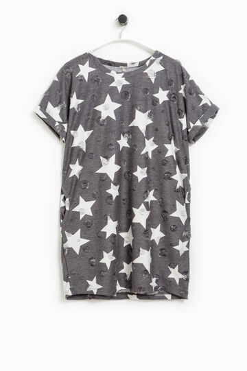 Smart Basic openwork polka dot and star dress