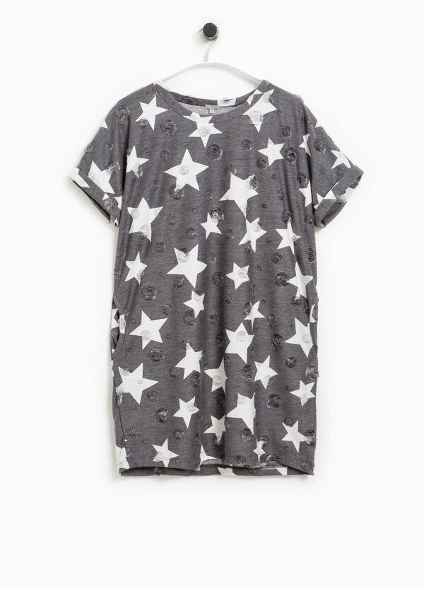 Vestido calado con lunares y estrellas Smart Basic | OVS