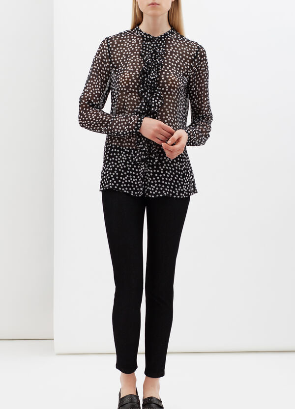 Polka dot shirt with frill | OVS