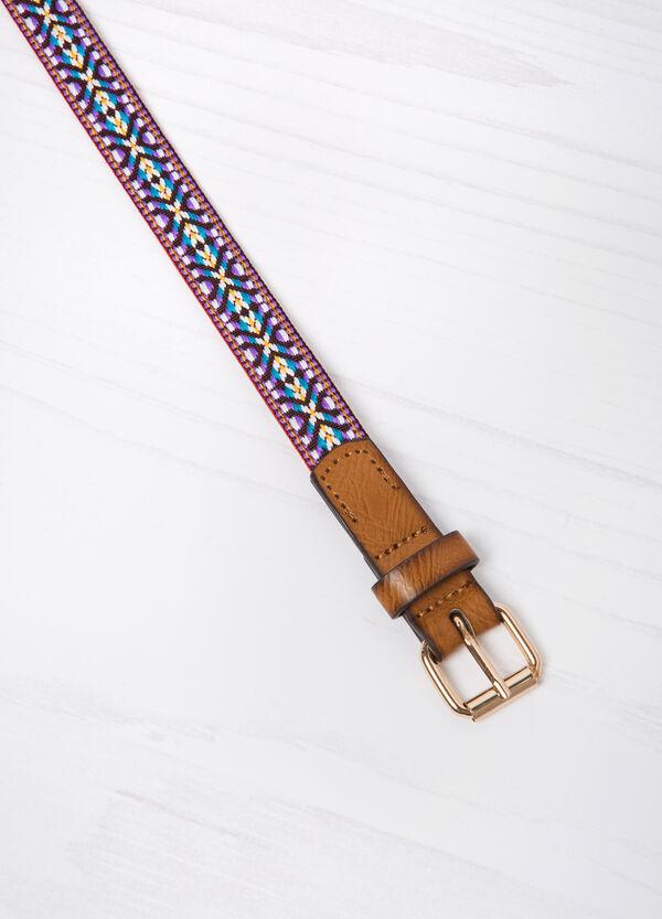 Contrasting pattern belt | OVS