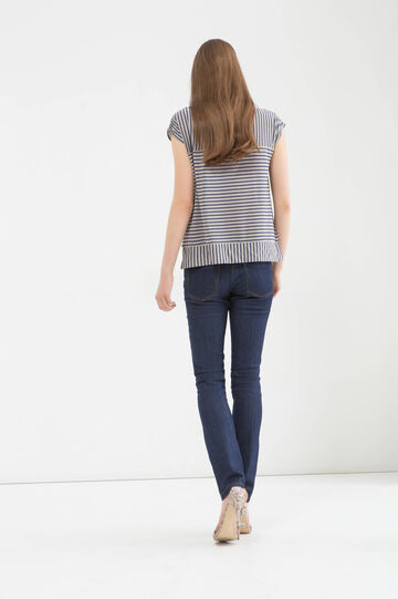 Striped, 100% viscose T-shirt, Multicolour, hi-res