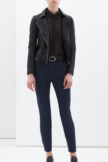 Plain stretch jeans, Dark Blue, hi-res