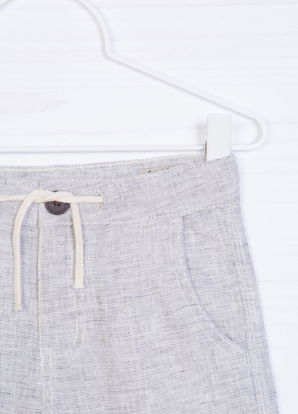 Linen and cotton shorts | OVS