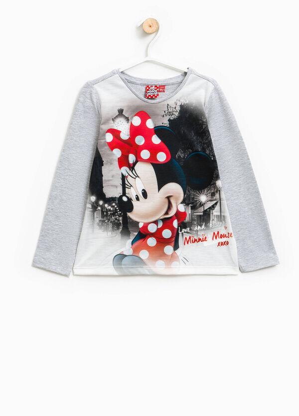 Camiseta en algodón elástico con estampado de Minnie | OVS