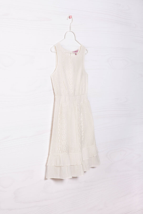Sleeveless dress with lace | OVS