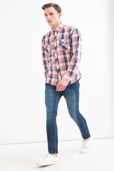 Camicia cotone a quadri G&H, Blu/rosso, hi-res