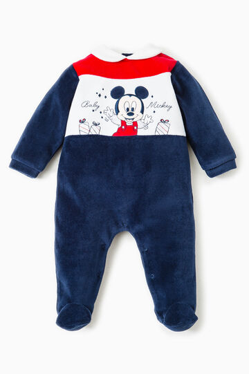 Tutina con patch Baby Mickey Mouse, Blu/rosso, hi-res