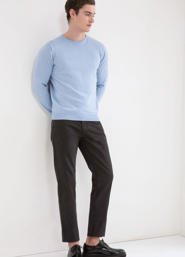 Pantaloni puro cotone regular fit  | OVS