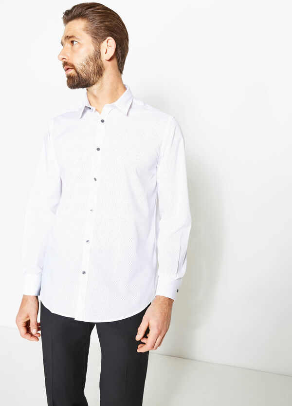 Regular-fit formal polka dot shirt | OVS