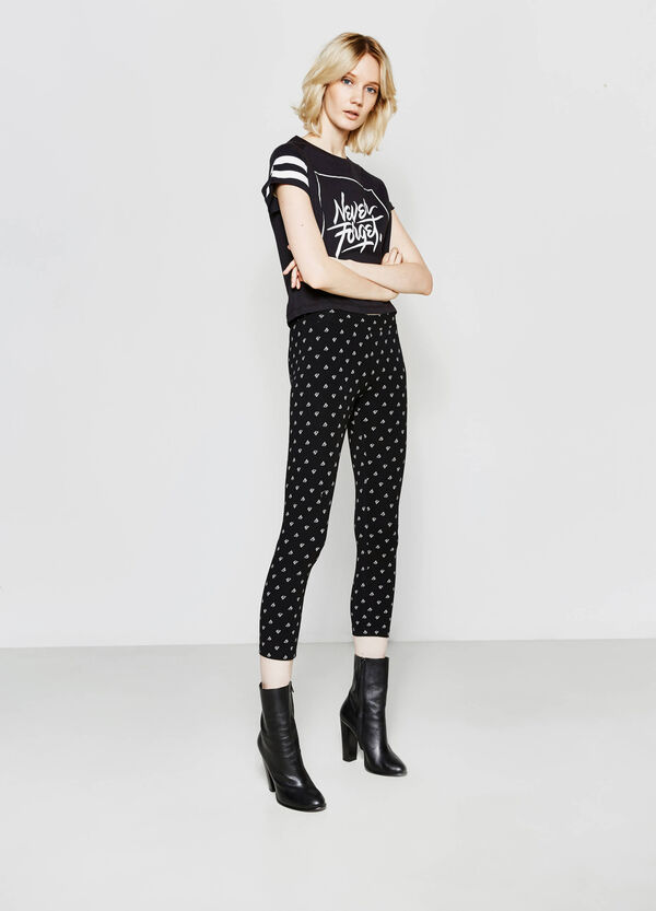 Three-quarter-length patterned leggings | OVS