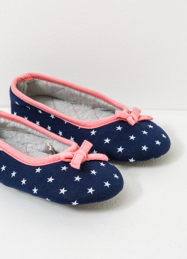 Slippers with star pattern and bows | OVS