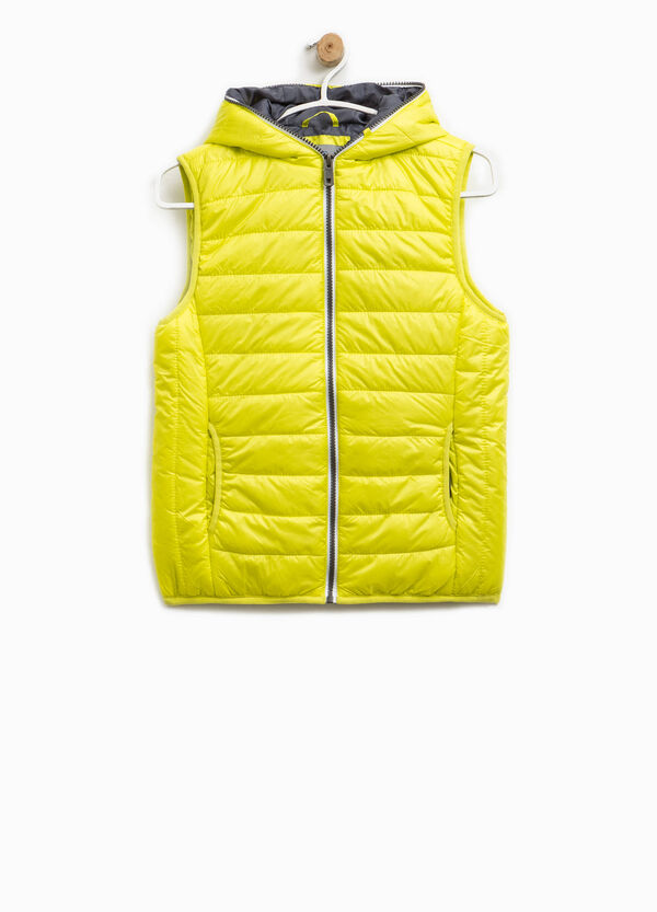 Padded waistcoat with hood and zip | OVS