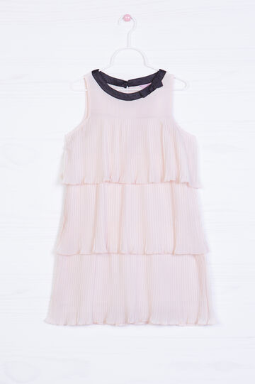 Dress with ruffles and bow