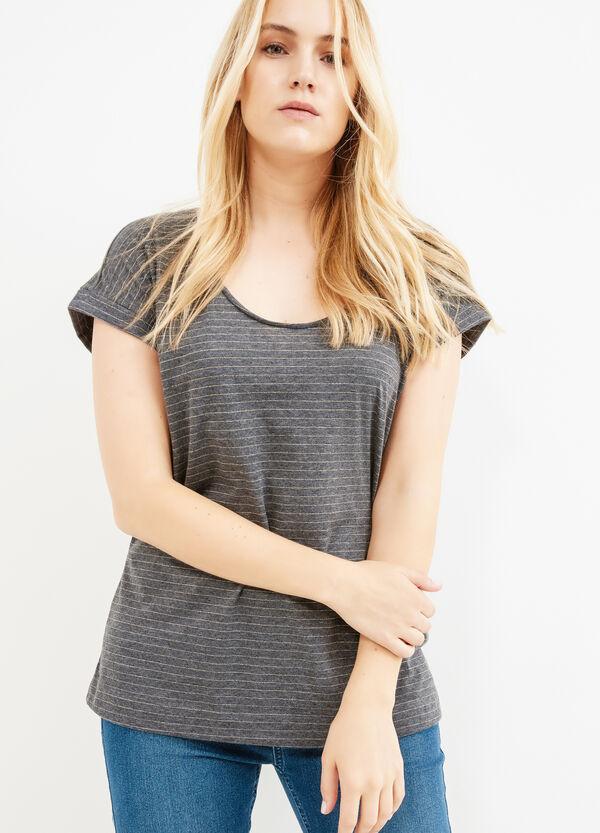 T-shirt a righe in puro cotone Curvy | OVS