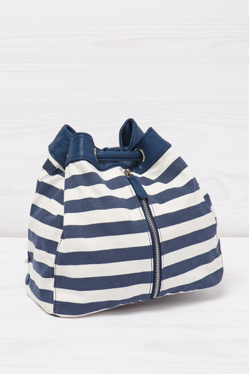 Bag with striped pattern.